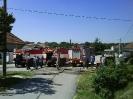 Požár lánu obilí v obci 7. 8. 2008